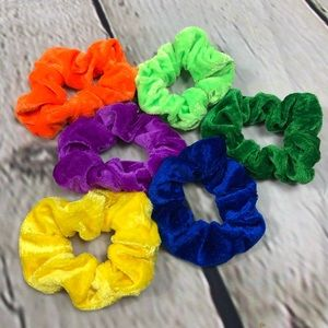 Hair Scrunchies Multi Color Rainbow VSCO Girl